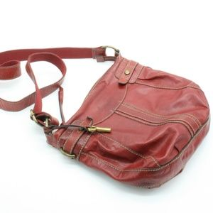 Fossil Vintage Red Leather Purse